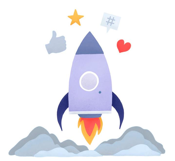 Vector Image of Sky Rocket